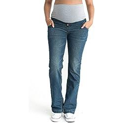 "Vintage Maternity Jeans, Over The Bump, UK Size 12, Regular Length 31"" Denim"