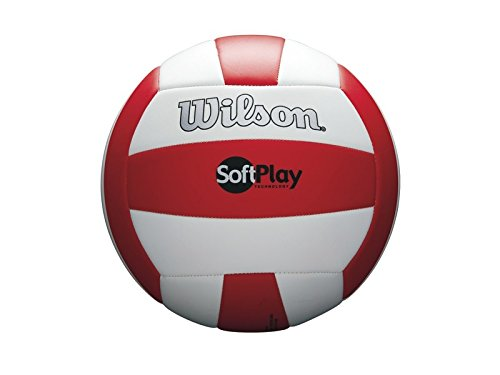Wilson Beach Volleyball, Outdoor, Freizeitspieler, Offizielle Größe, SOFT PLAY, Rot/Weiß, WTH3511XB