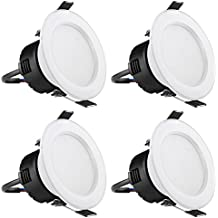 LE Focos LED empotrables, 4W = Halógeno 30W, 210lm, Blanca Cálida, Orificio 75mm, 4 Unidades