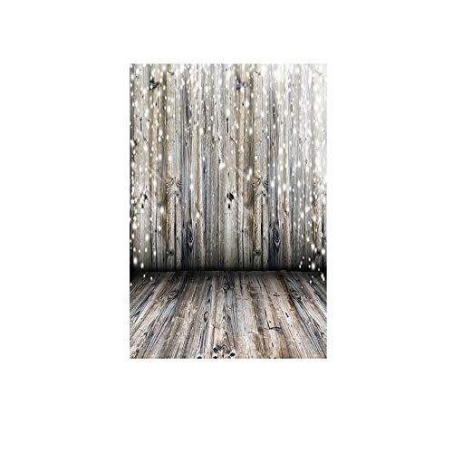 ODJOY-FAN Weihnachten Fotografie Hintergründe Schnee Vinyl 3x5FT Hintergrund Fotografie Studio Weihnachten Fotostudio 3D Hintergrund Wandtattoos Dekor 90x150cm(F,1 PC)