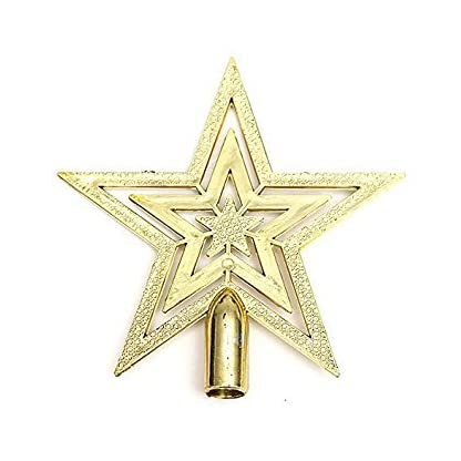 TOOGOO(R) Estrella del arbol de navidad de Decoracion Pendiente estrella de Cumbre abeto arbol de Navidad