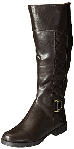 Life Stride Marvelous Wide Calf Damen Breit Mode-Knie hoch Stiefel Dark Brown