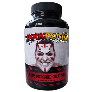 Psycho's Micronised 100% Creatine Capsules - High-Strength and Pure Dose - Bottle of 90 Tablets (700mg PER Capsule)