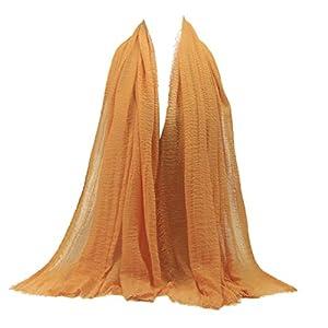 TPulling Art- Und Stilvoll Premium Viskose Maxi Crinkle Wolke Hijab Schal Schal Soft Islam Muslim