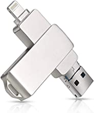 DSFG USB Flash Drive for iPhone Memory Stick 1TB Photo Stick تخزين خارجي 3 في 1 متوافق مع iPhone /6/7/8/S/Plus