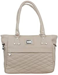 Element Cart Women's Pu Leather Light grey Color Hand Bag For Women/Girls(EC_15)