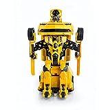 Spire Tech*** ST-631 RC 2.4Ghz Bumblebee Estilo Chevrolet Camaro Mando a Distancia Coche con Conversación Drifting One Touch Transform Autobot Robot Sonido FX Luces