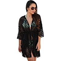 meinice animale stampa coulisse cover up Dress