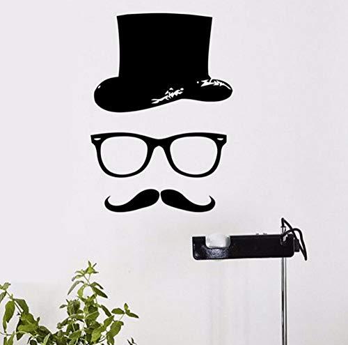 Diy Decor Art Vinyl Wandtattoo Hipster Hut Brille Bart Kinder Wasserdichte Wandaufkleber Dekoration 28X39 cm