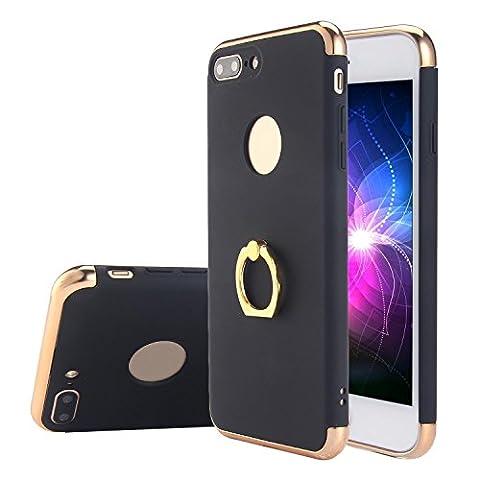 Kobwa iPhone 7 Plus Hülle, 3 in 1 Ultra Dünner Harter 360 Grad Ring Anti-Kratzer Stoßfestes Elektrodengestell mit Beschichteter Oberfläche Ausgezeichneter Griff-Fall für Apple iPhone 7 Plus