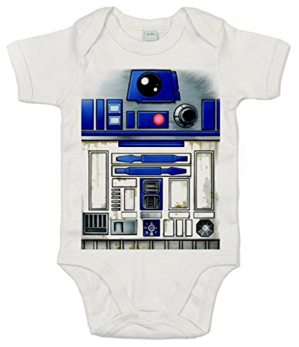 (DF, Cute R2 Robot design, Baby Body, 3-6m, Weiß)