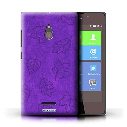 Kobalt® Imprimé Etui / Coque pour Nokia XL / Pourpre conception / Série Motif Feuille/Effet Textile Pourpre
