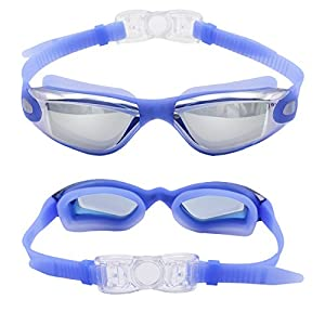 IWAMEE Swimming Goggles Soft Silicone Swim Goggles No Leaking Anti Fog UV Protection with FREE Protective Case for Adult Men Women Youth Kids Child from IWAMEE
