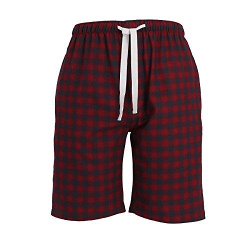TOM TAILOR Herren Lange-Hose, Schlafhose, Pyjama-Hose - Baumwolle, Flanell, rot kariert, mit Eingriff 52 (Flanell Schlaf-hose Herren)