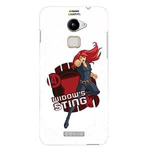 Hamee Original Marvel Character Licensed Designer Cover Slim Fit Plastic Hard Back Case for Coolpad Note 3 (Black Widow / Sting)