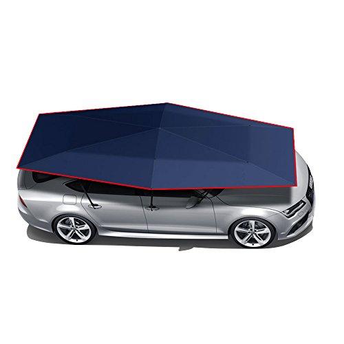 Wisamic Automatik Auto Zelt Regenschirm Sonnenschutz Tragbar Draußen Autogarage Wasserdicht 82.68