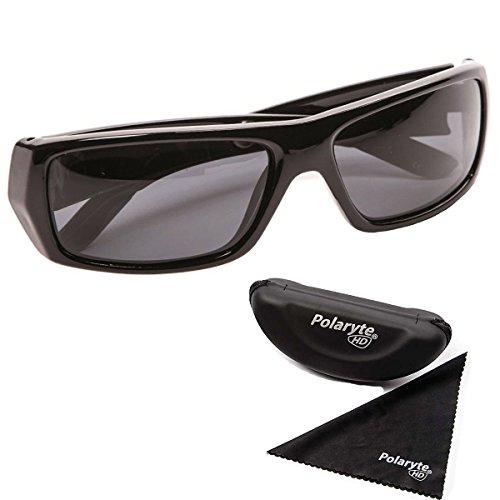 a8f7d5522f4e Polaryte HD Vision Lunettes de soleil polarisées pour homme femme Conduite  Sport protection UV, noir