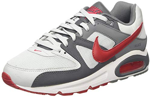 Nike Herren AIR MAX Command Laufschuhe, Grau (Pure Platinum/Gym Red/Dk Cool Grey/White 049), 45 EU