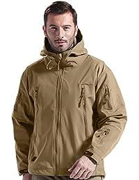 Free Soldier Chaqueta para deportes al aire libre, con tejido Softshell y forro polar, con capucha, para hombre, chaqueta de caza, hombre, color Wolf Brown, tamaño L