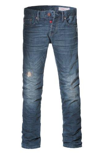 edc by ESPRIT Herren Relaxed Jeans im used Look 994CC2B904 Blau (987 C DARK DIRTY USED)