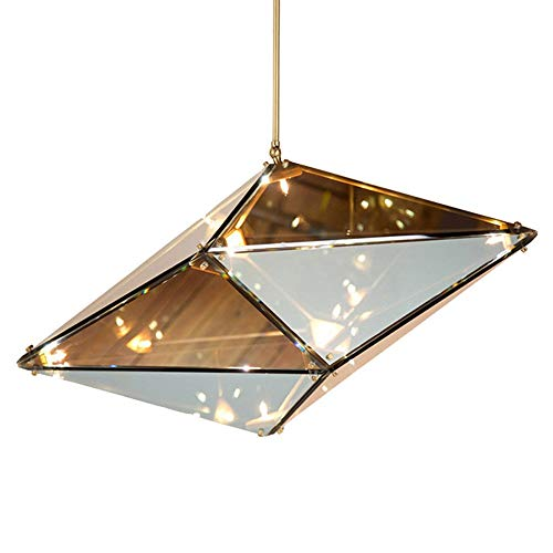 Hardworking bee Creative Diamond LED Licht Glas Top Light 20 Watt Schlafzimmer/Café/Studie/Wohnzimmer Dekoratives Licht Für 15-20 Quadratmeter Hoher Geschmack (Farbe : Chrome)