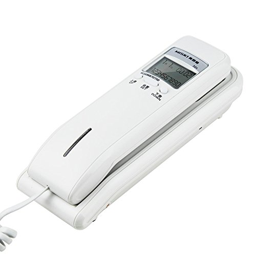 Telephone LXZXZ - Festnetztelefon Festnetz Haushalt Wandmontierter Creative Single Microcomputer Mini Wandbehang (Farbe : Weiß)