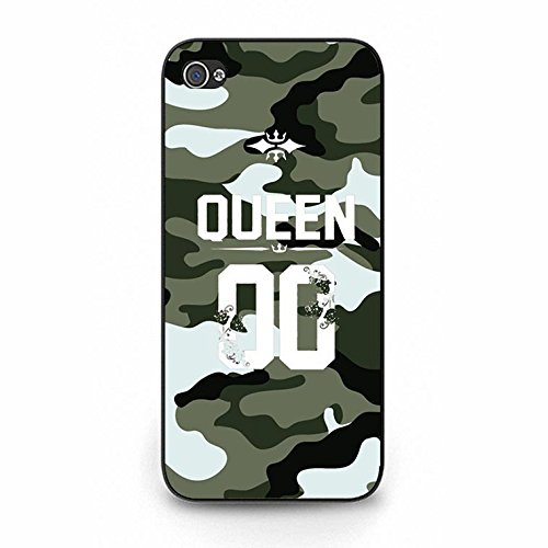 Fashion Camouflage Design King Queen Couple Phone Case Cover Solid Skin Protetive Shell for Iphone 5/5s King Queen Lovers Classic Color132d