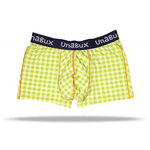 UNABUX - Boxerbrief - Boxershorts - Green Karo (M) (Karo-boxer-unterwäsche)