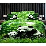 Giftsmate Panda 3d Premium Double Bed Sh...