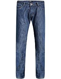 d51dac6fba78 SSLR Herren Jeans Hose Basic Stretch Jeanshose Fleece Gefüttert Regular  Straight Denim Pants