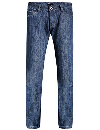 SSLR Herren Straight Fit Flanell Gefüttert Jeans (W34 x L32, Blau (neu))