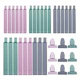 RZKJ-SHOP Verschluss Clips 36 Stück versiegelte Lebensmittel Kunststoff Klemmen Dichtung Sealer für Luftdichtes Aufbewahren Einfrieren