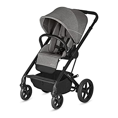 CYBEX Gold Balios S Pushchair, From Birth to 17 kg (approx. 4 years), Manhattan Grey  The Sales Partnership Distributors Ltd 'TSPDL'