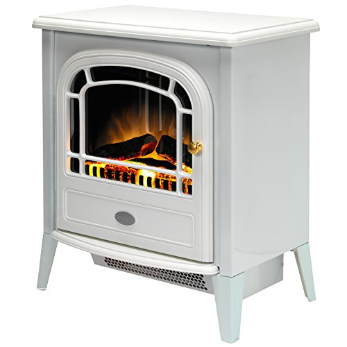 41PdOObEN7L. SS500  - Dimplex CVL20E Courchevel Electric Stove with Optiflame Effect, 2 kW, 230 W, White