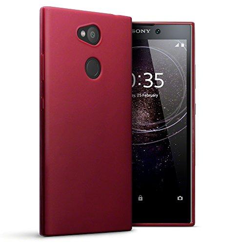 Terrapin, Kompatibel mit Sony Xperia L2 Hülle, TPU Schutzhülle Tasche Case Cover - Matt Rot EINWEG