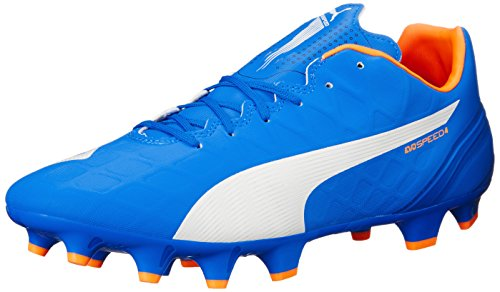 Puma Evospeed de Chaussures de soccer Electric Blue Lemonade/White/Orange Clownfish