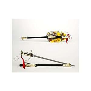 Epée sabre japonais droit avec étui 67 cm