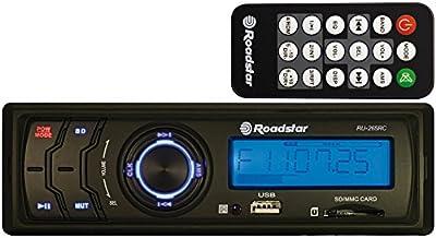 Roadstar RU-265RC - Radio para coche, USB, tarjeta SD, negro