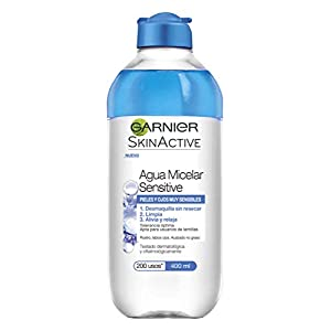 Garnier Skin Active – Agua Micelar Sensitive para Pieles y Ojos Muy Sensibles, 6 Recipientes de 400 ml, Total: 2400 ml