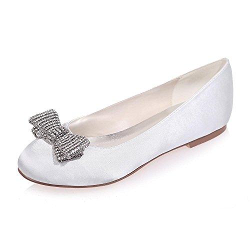 Chaussures De Mariage Pour Femmes Round Head / Flat / Party Night 9872-25 Et Plus De Couleurs Disponibles En Blanc