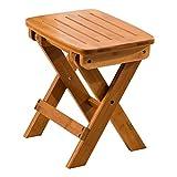 Haoli-chairs Faltbarer Bambushocker , Handgefertigter Fußhocker für Küche, Schlafzimmer, Wohnzimmer, Bad 13,7 Zoll (Farbe : A)