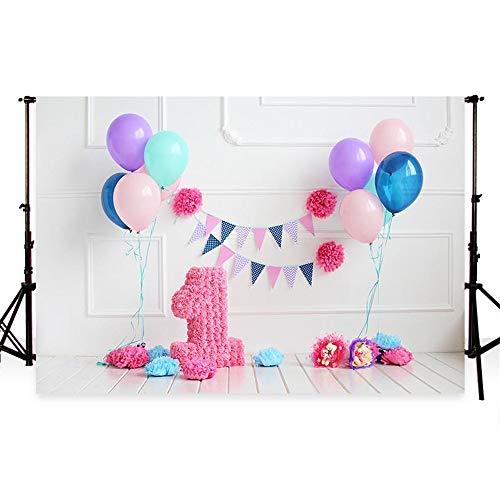 (WaW Fotohintergrund 1st Geburtstag Cake Smash Party Fotoshooting Hintergrund (7x5ft, Geburtstag4))
