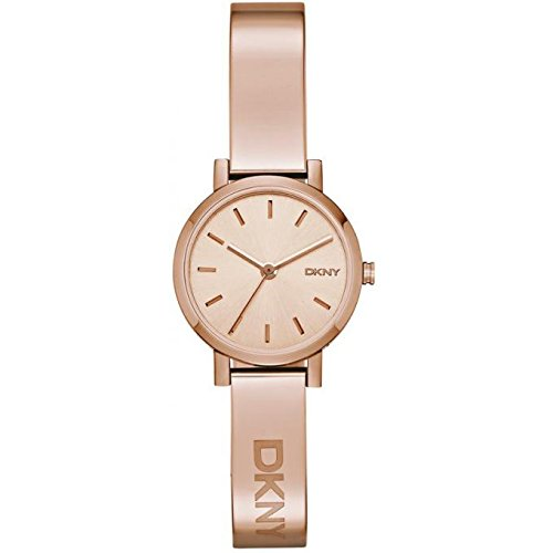 DKNY (DNKY5) Women's Quartz Watch with Rose Gold Dial Analogue Display and Rose Gold Stainless Steel Bracelet NY2308