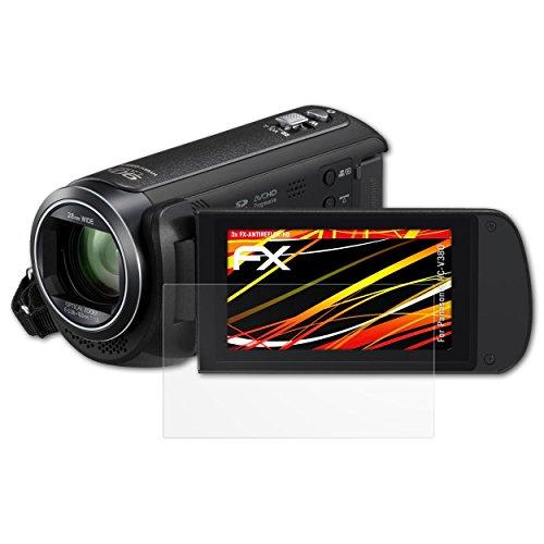 Galleria fotografica Panasonic HC-V380 Protezione Pellicola dello Schermo - 3 x atFoliX FX-Antireflex-HD ad alta risoluzione antiriflesso Pellicola Protettiva Pellicola Proteggi