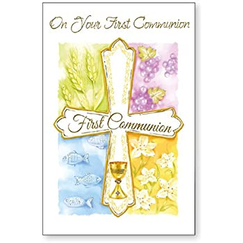 Hallmark Communion Card First Holy Communion Medium Amazon Co