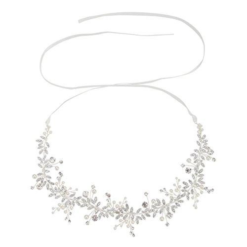 Handgefertigt Kristall Strass Hochzeit Headband Haarschmuck Zubehör Strassbesatz Silber