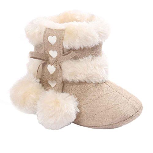 Kolylong Baby Soft Sole Snow Boots Soft Crib Shoes Toddler Boots