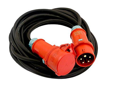 Preisvergleich Produktbild CEE Verlängerungskabel Kabel 25m 16A IP44 Starkstromkabel 5x2,5mm² MENNEKES (848)