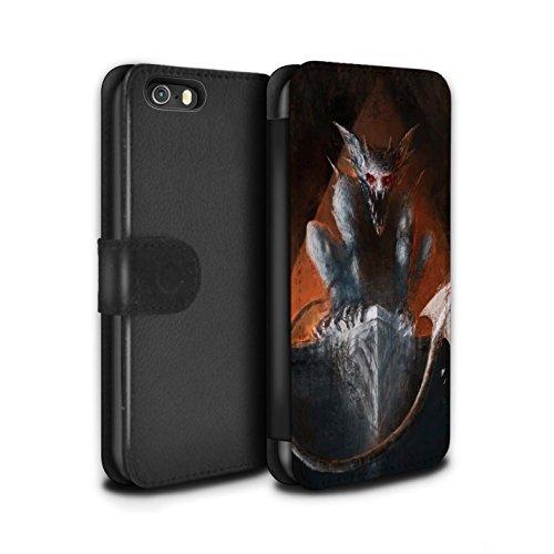 Offiziell Chris Cold PU-Leder Hülle/Case/Tasche/Cover für Apple iPhone SE / Pack 6pcs Muster / Wilden Kreaturen Kollektion Vampirfledermaus