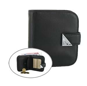 porte cartes / monnaie sarome cuir noir